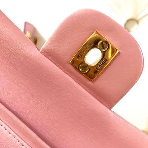 CHANEL Bags - CHANEL DOUBLE FLAP SMALL LAMBSKIN GHW EXCELLENT